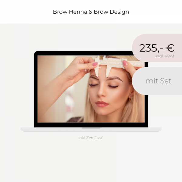 Online Schulung | Henna Brows & Design | mit Set