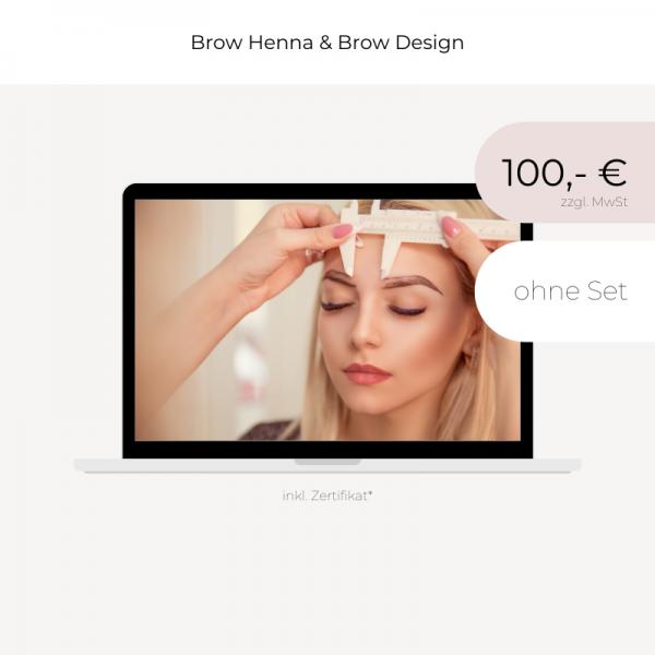 Online Schulung | Henna Brows & Design | ohne Set