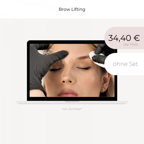 Online Workshop | Brow Lifting | ohne Set