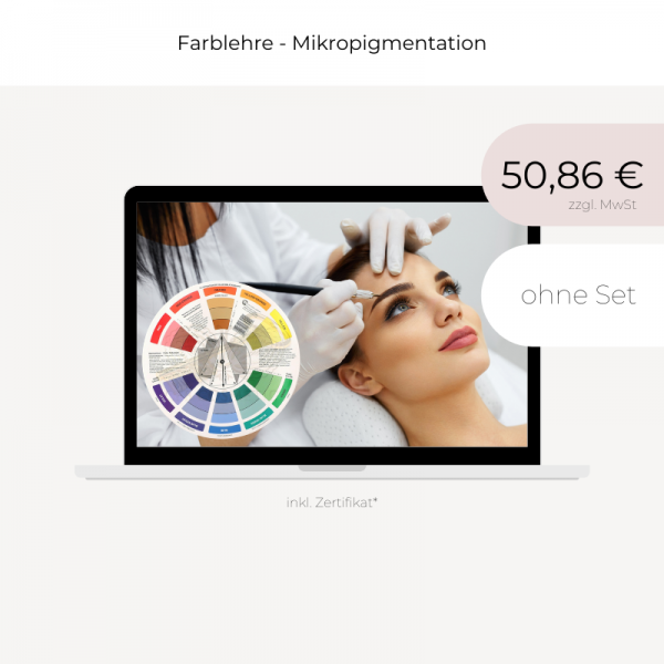 Online Schulung | Farblehre Mikropigmentation | ohne Set