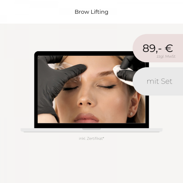 Online Workshop | Brow Lifting | mit Set